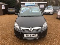 USED 2012 12 VAUXHALL ZAFIRA 1.7 DESIGN CDTI ECOFLEX 5d 108 BHP FULLY AA INSPECTED - FINANCE AVAILABLE