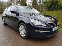 USED 2015 15 PEUGEOT 308 1.6 HDI S/S SW ACTIVE 5d 115 BHP **£0 ROAD FUND**1 OWNER**FANTASTIC DRIVE**