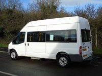 USED 2008 08 FORD TRANSIT T350 2.4TDCI 100BHP LWB DISABLED PASSENGER MINI BUS (STANFORD CONV) +1 OWNER+ ELEC TAILLIFT+