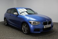 USED 2013 13 BMW 1 SERIES 3.0 M135I 3DR AUTO 316 BHP BMW SERVICE HISTORY + HEATED LEATHER SPORTS SEATS + BLUETOOTH + CLIMATE CONTROL + XENON HEADLIGHTS + MULTI FUNCTION WHEEL + 18 INCH ALLOY WHEELS