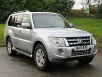 USED 2013 13 MITSUBISHI SHOGUN 3.2 DI-D SG3 5d AUTO 197 BHP 21 MAIN DEALER SERVICES