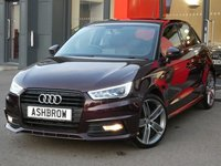 USED 2015 65 AUDI A1 SPORTBACK 1.4 TFSI S LINE 5d AUTO 150 S/S £3055 OF OPTIONAL EXTRAS, UPGRADE SAT NAV, UPGRADE HIGH GLOSS BLACK STYLING PACK, UPGRADE CONTRAST ROOF, UPGRADE 18 INCH WING ALLOY WHEELS, UPGRADE PERFORATED ALCANTARA LEATHER S LINE UPHOLSTERY, LED XENON LIGHTS, FULL S LINE BODY KIT, REAR SPOILER, DAB RADIO, BLUETOOTH PHONE & MUSIC STREAMING, AUDI MUSIC INTERFACE (AMI), S TRONIC AUTOMATIC GEARBOX, LEATHER MULTIFUNCTION TIPTRONIC STEERING WHEEL (PADDLE SHIFT), ALUMINIUM PEDALS, 1 OWNER FROM NEW, FULL AUDI SERVICE HISTORY, £30 ROAD TAX