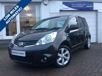 USED 2009 09 NISSAN NOTE 1.6 TEKNA 5d AUTO 110 BHP SUPPLIED WITH 12 MONTHS MOT, LOVELY CAR TO DRIVE 58,000 MILES - AUTOMATIC - FINANCE ARRANGED - EXCELLENT VALUE FOR MONEY -