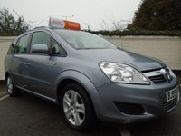 USED 2009 59 VAUXHALL ZAFIRA 1.6 EXCLUSIV 5d 113 BHP GUARANTEED TO BEAT ANY 'WE BUY ANY CAR' VALUATION ON YOUR PART EXCHANGE