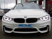 USED 2015 15 BMW M4 3.0 M4 2d AUTO 426 BHP STUNNING 430 BHP, BMW M4 3.0 COUPE 430 BHP. Finished in ALPINE WHITE with contrasting BLACK SPORTS HEATED LEATHER. This M4 offers great interior and boot space. The twin turbo, 3.0 litre engine punches out a huge 430 BHP firing it from 0-60 mph in only 4.1 seconds. This is a must have fun family car. Features include, Sat Nav, Heated Leather Electric Memory Seats, DAB, B/Tooth and much more.