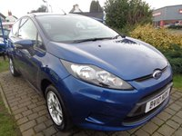 USED 2010 10 FORD FIESTA 1.2 EDGE 3d 81 BHP LOW RATE FINANCE PART EXCHANGE