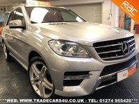 USED 2012 62 MERCEDES-BENZ ML 350  CDI DIESEL BLUETEC SPORT AUTO 4X4 UK DELIVERY* RAC APPROVED* FINANCE ARRANGED* PART EX