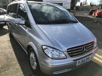 USED 2005 54 MERCEDES-BENZ VIANO 2.1 CDI EXTRA LONG AMBIENTE 5d AUTO 150 BHP 54 MERCEDES VIANO 2.2CDI EXTRA LONG AUTO AMBIENTE 8 SEATER MPV SILVER WITH FULL LEATHER