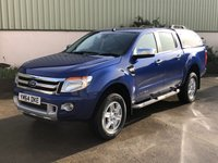 USED 2015 64 FORD RANGER 3.2 LIMITED 4X4 DCB TDCI 4d 197 BHP LEATHER, REVERSE CAMERA, CANOPY, ELECTRIC HEATED SEATS
