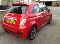 USED 2013 63 FIAT 500 1.2 S 3d 69 BHP 1/2 LEATHER + ALLOYS + LOVELY LITTLE CAR !!
