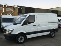 USED 2016 16 MERCEDES-BENZ SPRINTER 2.1 313CDI SWB LOW ROOF 130BHP AIRCON. 1 OWNER. RARE VAN. 1 OWNER. RARE SMALL SIZE. AIR CON. MERC WARRANTY. PX