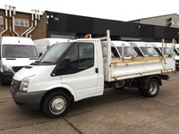 USED 2014 14 FORD TRANSIT 2.2TDCI T350 TIPPER SINGLE CAB PICK UP TRUCK. CAMERA. 1 OWNER. 1 OWNER. REVERSE CAMERA. LOW FINANCE. RARE TIPPER.