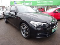 USED 2016 16 BMW 1 SERIES 1.5 118I SPORT 5d 134 BHP FACTORY FITTED SAT NAV...REAR PRIVACY GLASS...KEYLESS GO