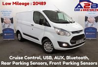 USED 2016 66 FORD TRANSIT CUSTOM 2.2 TDCi TREND 270, Low Mileage (20489) Bluetooth, Cruise Control, Front and Rear Parking Sensors *Over The Phone Low Rate Finance Available*   *UK Delivery Can Also Be Arranged*           ___       Call us on 01709 866668