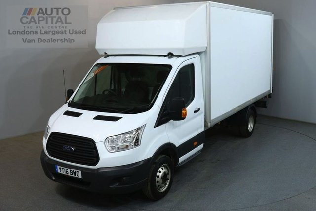 2016 16 FORD TRANSIT 2.2 350 124 BHP L4 EXTRA LWB TAIL LIFT FITTED LUTON VAN BOX LENGTH 13 FOOT 7 INCHES