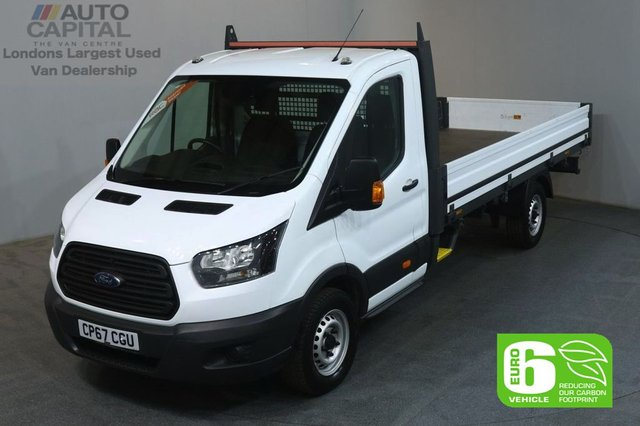 2018 67 FORD TRANSIT 2.0 350 129 BHP L4 EXTRA LWB EURO 6 DROPSIDE LORRY REAR BED LENGTH 13 FOOT &11 IN