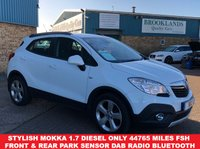 USED 2013 63 VAUXHALL MOKKA 1.7 EXCLUSIV CDTI S/S 5d 128 BHP £30 a year road tax  Stylish Mokka 1.7 Diesel with only 44765 miles FSH Front & Rear Parking Sensor DAB Radio Bluetooth