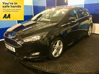 "USED 2015 65 FORD FOCUS 1.5 ZETEC S TDCI 5d 118 BHP A stunning example of this very highly sought after family diesel hatchback finished in unmarked panther black metalic complemented with 17"" 5 twin spoke alloys with 4 brand new tyres.This car comes equiped with ford sync 2 system with 8"" colour toch screen with satelite navigation ,dad cd radio with usb,aux imputs ,air con ,rear parking sensors,front and rear fog lights,onboard computer ,tpms plus all the usual refinements. This car returns a combined ecconomy of 74.3 mpg along with zeroroad ta"