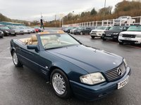 USED 1997 P MERCEDES-BENZ SL 3.2 SL320 2d AUTO 228 BHP Aquamarine Blue, Cream leather, hard top, revised model with service history