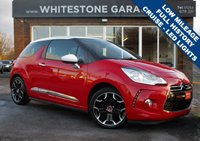 USED 2012 62 CITROEN DS3 1.6 DSTYLE PLUS 3d 120 BHP 17000 MILES, D STYLE PLUS, CRUISE CONTROL, 17INCH ALLOYS, AIR CONDITIONING, RETRACTABLE MIRRORS.