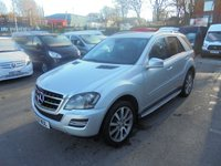 2011 MERCEDES-BENZ ML 350 3.0 ML350 CDI  GRAND EDITION SAT NAVIGATION, FULL BLACK LEATHER, AUTOMATIC!!! FINANCE AVAILABLE !!!! £9950.00
