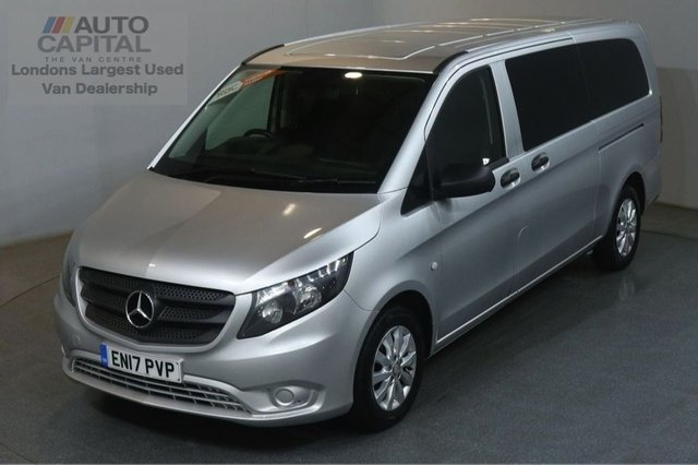 2017 17 MERCEDES-BENZ VITO 2.1 114 BLUETEC TOURER SELECT 136 BHP EXTRA LWB EURO 6 AIR CON 9 SEATER