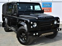 USED 2009 58 LAND ROVER DEFENDER 110 LWB 2.4 110 COUNTY Spec 4x4 Absolutely Stunning Looking Double Crew Cab 4dr Pickup SUV with 5 Seats in Santorini Black with Black Alloys Side Steps Towbar Heated Seats Heated Windscreen STUNNING IN BLACK WITH BLACK ALLOYS