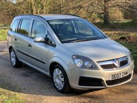 USED 2007 07 VAUXHALL ZAFIRA 1.6 LIFE 16V 5d 105 BHP Alloy Wheels, Low Mileage, A/C