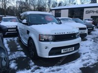 USED 2013 13 LAND ROVER RANGE ROVER SPORT 3.0 SDV6 HSE BLACK 5d AUTO 255 BHP FACTORY AUTOBIOGRAHY FITTED KIT