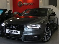 USED 2015 65 AUDI A4 2.0 TDI QUATTRO S LINE BLACK EDITION PLUS 4d 175 S/S £2020 OF OPTIONAL EXTRAS, UPGRADE TECHNOLOGY PACK, UPGRADE HEATED FRONT SEATS, UPGRADE ELECTRIC AUTO DIMMING FOLDING HEATED DOOR MIRRORS, HDD SAT NAV WITH DVD PLAYBACK & JUKEBOX, AUDI MUSIC INTERFACE (AMI), FRONT & REAR PARKING SYSTEM WITH DISPLAY, BANG & OLUFSEN SOUND SYSTEM, CRUISE CONTROL, DAB RADIO, BLUETOOTH PHONE & MUSIC STREAMING, WIRELESS LAN CONNECTION, BLACK MIRRORS & SILL MOULDINGS, BOOT LIP SPOILER, LED XENON LIGHTS, 19 INCH 10 SPOKE ALLOY WHEELS, PART LEATHER, FLAT BOTTOM MFSW