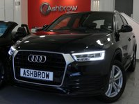 USED 2016 66 AUDI Q3 2.0 TDI S LINE NAVIGATION 5d 150 S/S SAT NAV, BLACK PART LEATHER INTERIOR, PARKING SYSTEM REAR, ELECTRIC HEATED POWER FOLDING DOOR MIRRORS, DAB RADIO, BLUETOOTH PHONE & MUSIC STREAMING, ELECTRIC TAILGATE, AUDI DRIVE SELECT, 18 INCH TWIN 5 SPOKE ALLOYS, LED XENON LIGHTS, SPORT SEATS WITH ELECTRIC LUMBAR SUPPORT, LEATHER MULTIFUNCTION STEERING WHEEL, AUTO LIGHTS & WIPERS, AUDI MUSIC INTERFACE, 1 OWNER FROM NEW, FULL AUDI SERVICE HISTORY, BALANCE OF AUDI WARRANTY, £30 ROAD TAX