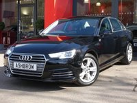 USED 2016 66 AUDI A4 1.4 TFSI SPORT 4d 150 S/S 1 OWNER FROM NEW, FULL AUDI SERVICE HISTORY, NEW SHAPE, SAT NAV, AUDI SMART PHONE W/ APPLE CAR PLAY & ANDROID AUTO, AUDI CONNECT, DAB RADIO, CRUISE CONTROL W/ SPEED LIMITER, LED DAYTIME RUNNING LIGHTS, BLUETOOTH PHONE & MUSIC STREAMING, FRONT & REAR PARKING SENSORS, 17 INCH ALLOYS, GREY CLOTH INTERIOR, SPORT SEATS, LEATHER MULTIFUNCTION STEERING WHEEL, LIGHT & RAIN SENSORS, AUDI DRIVE SELECT, FRONT & REAR ARM RESTS, KEYLESS START,AUX INPUT+ 2x USB PORTS,CD WITH 2x SD CARD READER +SIM SLOT, VAT Q