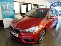 USED 2015 65 BMW 2 SERIES 1.5 218I SPORT GRAN TOURER 5d 134 BHP One private owner, full BMW service history, January 2020 Mot. Fitted with Seven Seats, Sat Nav, Bluetooth & DAB. Finished in Flamenco Red Pearl with Black cloth seats.