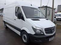 USED 2014 64 MERCEDES-BENZ SPRINTER 313 CDI MWB HI ROOF, 130 BHP [EURO 5], 1 COMPANY OWNER