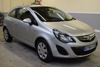 USED 2014 64 VAUXHALL CORSA 1.2 DESIGN 3d 83 BHP One owner from new, 2014 Vauxhall Corsa 1.2