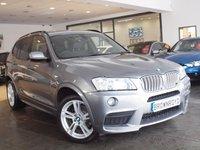 USED 2013 13 BMW X3 3.0 XDRIVE30D M SPORT 5d AUTO 255 BHP SAT NAV+HTD LEATHER+FSH