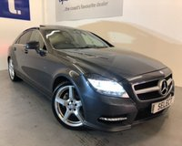 """USED 2012 62 MERCEDES-BENZ CLS CLASS 3.0 CLS350 CDI BLUEEFFICIENCY AMG SPORT 4d AUTO 265 BHP Absolutely stunning Mercedes CLS 350 CDi AMG 4Dr Auto in Graphite grey metallic with full black leather interior-Only 65,000 miles with Full Mercedes Benz Service History last serviced 1000 miles ago at JCT 600 MB -huge spec including factory electric Sunroof,Sat Nav,18""""AMG alloys,Cruise,Climate,Blue tooth,heated seats etc this car really must be viewed costing approaching  £60,000 when new and in immaculate condition -looks and drives like £50,000 !!!!"""