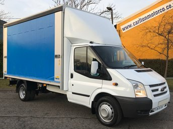 2013 FORD TRANSIT 350 LWB 2.2Tdci 125 T350EF CURTAIN SIDE LUTON BOX VAN DRW £12950.00