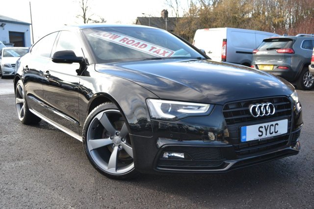 USED 2014 64 AUDI A5 2.0 SPORTBACK TDI S LINE BLACK EDITION S/S 5d 175 BHP *** £9832.50 + VAT *** VAT QUALIFYING £9832.50 + VAT ~ SAT NAV ~ HEATED SEATS ~ 1 OWNER ~ 2 KEYS