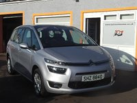USED 2014 CITROEN C4 GRAND PICASSO 1.6 E-HDI AIRDREAM VTR PLUS 5d 113 BHP 1 Owner, 3 Service Stamps, Rear Parking Sensors, Touchscreen