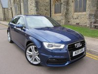 USED 2015 15 AUDI A3 1.6 TDI S LINE 3d AUTO 109 BHP + SAT NAV + SUPERB CONDITION +
