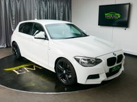 USED 2012 K BMW 1 SERIES 2.0 125D M SPORT 5d 215 BHP £0 DEPOSIT FINANCE AVAILABLE, AIR CONDITIONING, AUX INPUT, BMW PROFESSIONAL, CLIMATE CONTROL, CRUISE CONTROL, DRIVE PERFORMANCE CONTROL, FULL LEATHER UPHOLSTERY, HEATED SEATS, PARKING SENSORS, START/STOP SYSTEM, STEERING WHEEL CONTROLS, TRIP COMPUTER