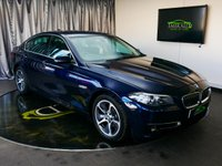"USED 2013 63 BMW 5 SERIES 2.0 520D LUXURY 4d AUTO 181 BHP £0 DEPOSIT FINANCE AVAILABLE, AIR CONDITIONING, AUX INPUT, BLUETOOTH CONNECTIVITY, BMW APPS INTERFACE, CLIMATE CONTROL, CRUISE CONTROL, DAB RADIO, ELECTRONIC PARKING BRAKE, HEATED SEATS, IDRIVE CONTROLLER AND DISPLAY WITH 10.2"" COLOUR DISPLAY MONITOR, PARKING SENSORS, REAL TIME TRAFFIC INFORMATION, SATELLITE NAVIGATION, START/STOP SYSTEM, STEERING WHEEL CONTROLS, TRIP COMPUTER"