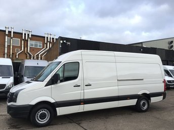 2017 VOLKSWAGEN CRAFTER 2.0 TDI CR35 LWB HIGH ROOF BMT 140BHP EURO 6. VW WARRANTY. PX £11990.00