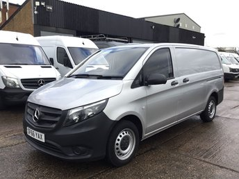 2016 MERCEDES-BENZ VITO 2.1 114CDI BLUETEC LONG LWB 140BHP SILVER. EURO 6. WARRANTY £11990.00
