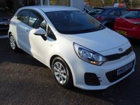 USED 2015 65 KIA RIO 1.2 1 AIR 5d 83 BHP Full Service History + Serviced by ourselves, One Owner, MOT until July 2019, Great fuel economy! Only £30 Road Tax! Low Insurance Group! Balance of Kia Warranty until 2022