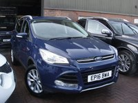 USED 2016 16 FORD KUGA 2.0 TITANIUM TDCI 5d AUTO 177 BHP ANY PART EXCHANGE WELCOME, COUNTRY WIDE DELIVERY ARRANGED, HUGE SPEC