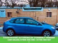 USED 2010 60 FORD FOCUS 1.6 SPORT 5d 99 BHP Here we have a stunning bright electric blue Focus 1.6 sport, very good specification with Blue-tooth, Sat Nav, aux and usb inputs, dark grey cloyth interior with contrasting white stitching, MF steering wheel, silver int trim kit. Very sporty yet tasteful combination. full service history, this car was previously sold and maintained by ourselves.Genuine Sport better spec than zetec s .