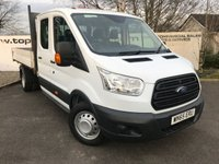 USED 2015 65 FORD TRANSIT 350 2.2 125 BHP L3 DCB TIPPER ALLOY BODY**70 VANS IN STOCK