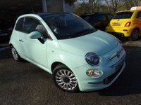 USED 2015 65 FIAT 500 0.9 TWINAIR LOUNGE 3d 105 BHP NEW SHAPE Rare 105 BHP New Shape Model with 6 Speed Gearbox and Sport Drive Mode, finished in Smooth Mint Green! Very Low Mileage! Less than 8,000 miles covered from new! One Owner from new, Fiat Service History + Serviced by ourselves, MOT until December 2019, Great fuel economy! ZERO Road Tax!
